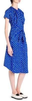 Marni Paintbrush Dot Shift Cotton Dress
