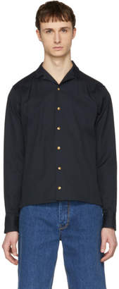 Kolor Navy Button Down Shirt