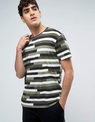 Dr. Denim Russ T-Shirt Camo Stripe