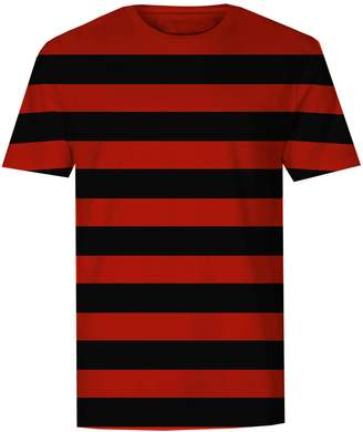 Factory The T-Shirt Mens Red and Striped T-Shirt (S)