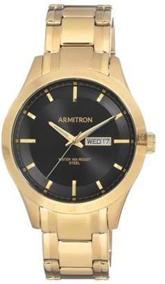 Armitron Mens Dress Gold Bracelet Round