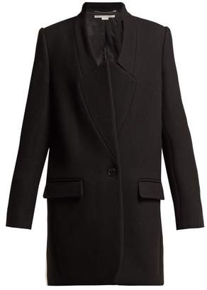 Stella McCartney Bryce Single Breasted Wool Twill Coat - Womens - Black