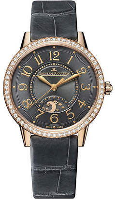 Jaeger-LeCoultre Q3442450 Rendez-Vous alligator-leather and 18ct rose-gold diamond watch
