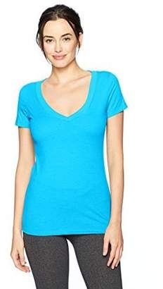 Clementine Apparel Women's Casual T Shirt Comfy Short Sleeve Pull Over Basic V Neck Top Tee (6640)