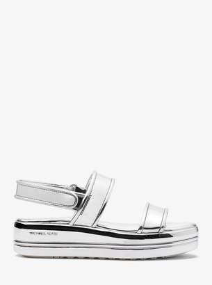 MICHAEL Michael Kors Peggy Metallic Platform Sandal
