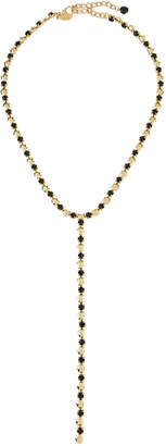 Emily and Ashley Greenbeads By Mixed Crystal Lariat Necklace