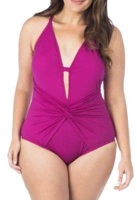 LaBlanca La Blanca Twist-Front Mio One-Piece Swimsuit