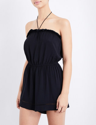 Seafolly Halterneck woven playsuit $65 thestylecure.com