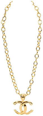 One Kings Lane Vintage Chanel Oversize Pendant Necklace - Vintage Lux