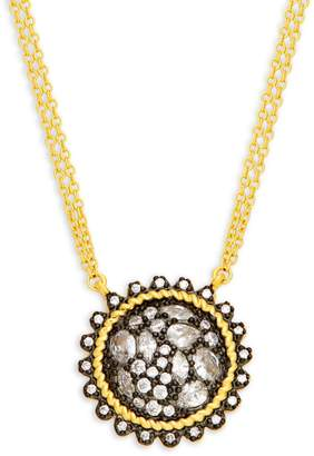 Freida Rothman Gilded Sterling Silver Cable Pendant Necklace