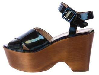 Céline Iridescent Patent Leather Wedges buy online with paypal very cheap online buy cheap visa payment 6XjuzVxlRu