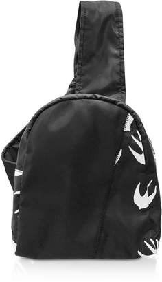 McQ Black & White Printed Nylon Backpack