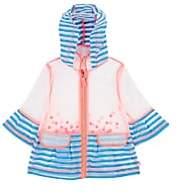 Billieblush Infants' Polka Dot & Striped Raincoat