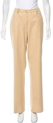 St. John Sport Mid-Rise Wide-Leg Pants