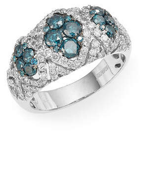 Effy Fine Jewelry Blue & White Diamond, 14K Ring