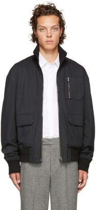 Wooyoungmi Reversible Black Zip-Up Jacket