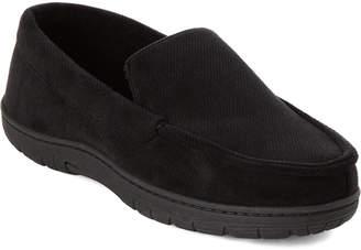 Kenneth Cole Reaction Black Velveteen Loafer Slippers