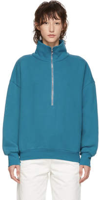 Simon Miller Blue Rime Half-Zip Sweater