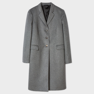 Women's Grey Wool-Cashmere Epsom Coat $950 thestylecure.com