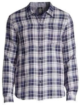 John Varvatos Check Plaid Button-Down Shirt