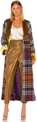 Divine Heritage Plaid and Yellow Velvet Cloak