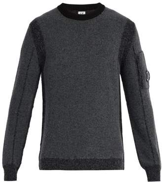 C.P. Company Crew Neck Wool Blend Sweater - Mens - Grey