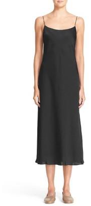 Women's Vince Spaghetti Strap Midi Dress $225 thestylecure.com