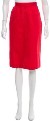 Saint Laurent Knee-Length A-Line Skirt