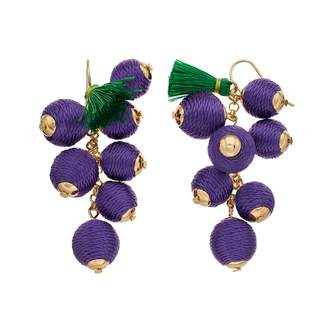 Other Private Brand Purple Grape Tropical Earring