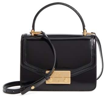 Tory Burch Mini Juliette Leather Top Handle Satchel - Black