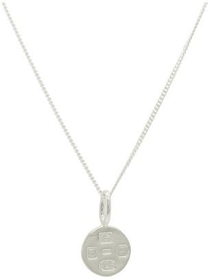 Katie Mullally Hallmarking Circle Silver Necklace