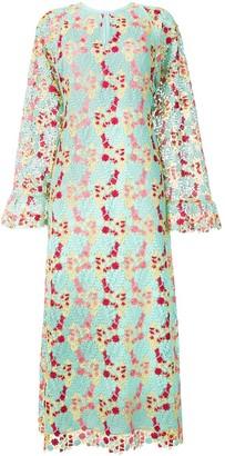 Giamba floral crochet dress