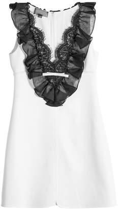 Giambattista Valli Mini Dress with Ruffled and Lace Bib