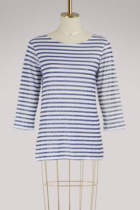 Majestic Filatures Long-sleeved metallic striped T-shirt