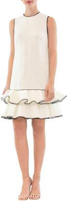 Nha Khanh Sleeveless Tiered Ruffle Mini Dress