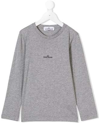 Stone Island Junior long-sleeve printed T-shirt
