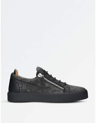 Giuseppe Zanotti Reptile-effect leather trainers