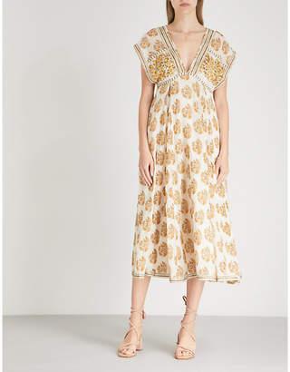 Free People Riakaa printed woven midi dress