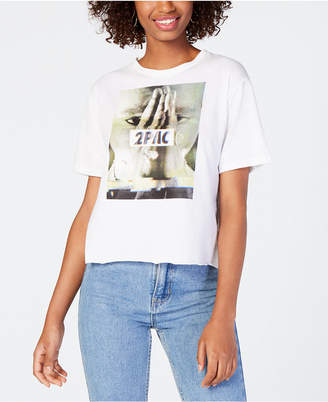 Bravado Juniors' Tupac Graphic Print Cotton T-Shirt