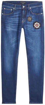 Alexander McQueen Skinny Jeans with Embellished Patches