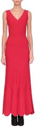 Alaia Viscose Stretch Knit Dress