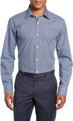 Ted Baker Slestmi Slim Fit Print Dress Shirt