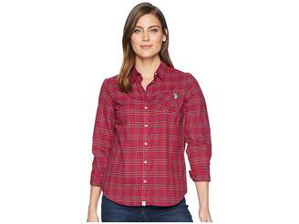U.S. Polo Assn. Plaid Woven Women's Clothing