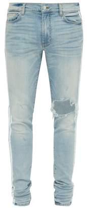 Amiri Painted Stripe Distressed Slim Leg Jeans - Mens - Multi
