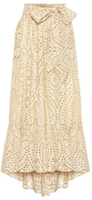Lisa Marie Fernandez Nicole eyelet cotton maxi skirt