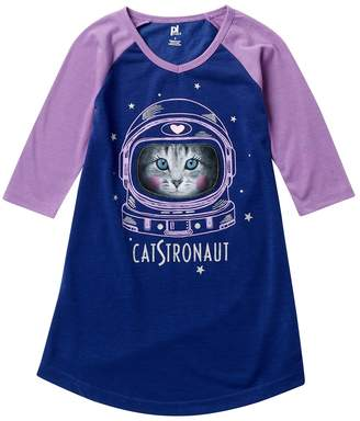 Petit Lem Cat Galaxy Girl Nightgown (Little Girls & Big Girls)