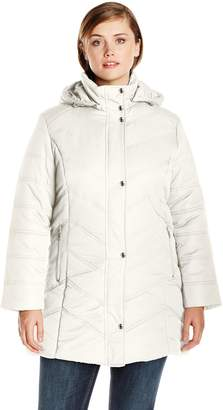 Big Chill Women's Plus-Size Mid Length Puffer Coat