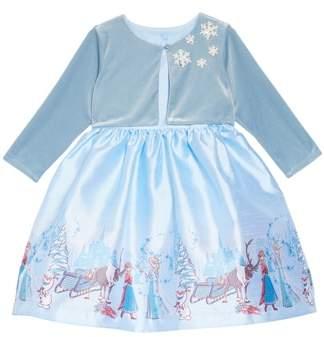 Pippa & Julie x Disney(R) Frozen Border Print Dress & Jacket Set