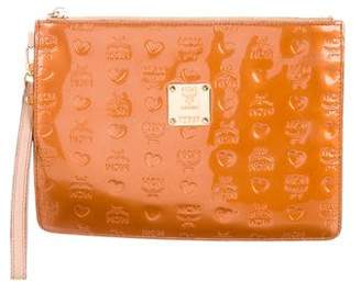 MCM Embossed Patent Leather Clutch