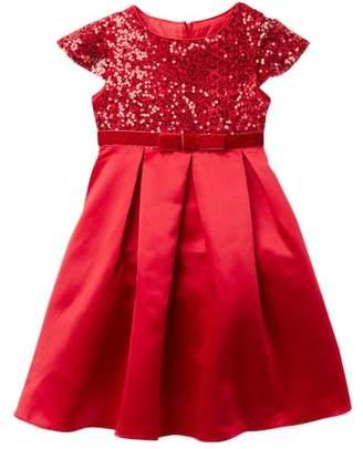 Dorissa Jennifer Sequin Bodice & Satin Bottom Dress (Little Girls)